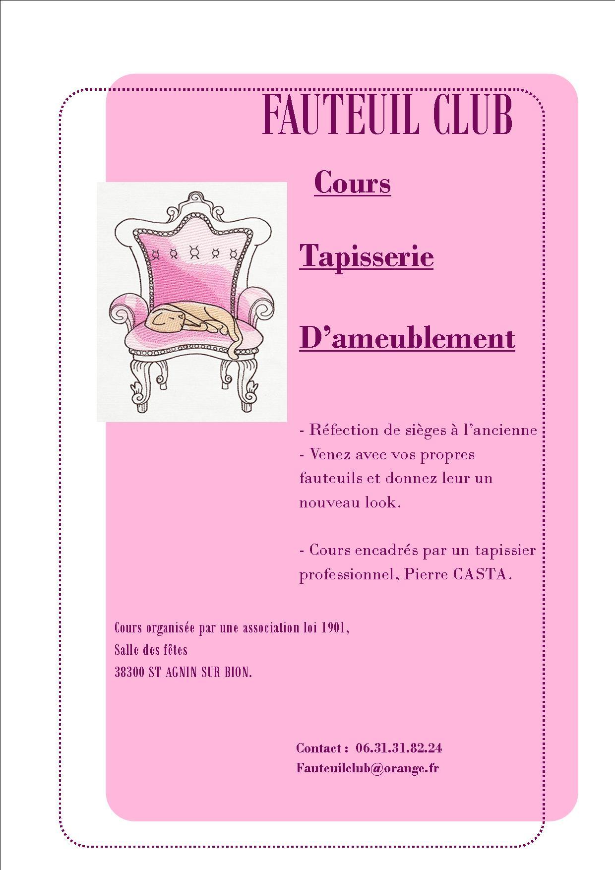 Liste Des Cours Tapissier En Province
